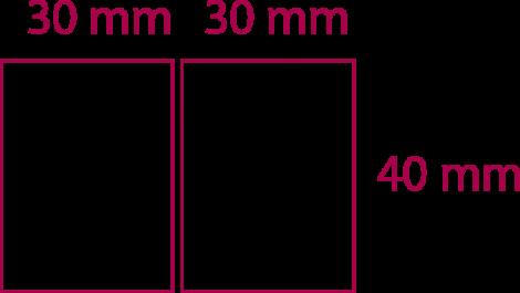 30 mm x 30mm x 40 mm