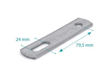 Pletina de unión M10 L=120