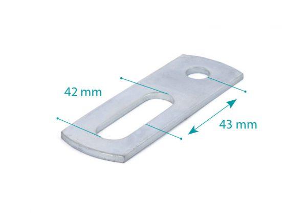 Pletina de unión M10 L=90
