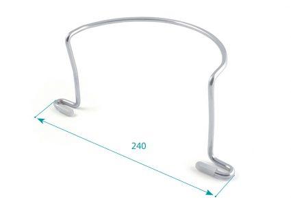Tope Colchón lateral con protección silicona d-6 cromado.