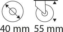 40mm x 55mm