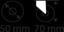 50mm x 70mm