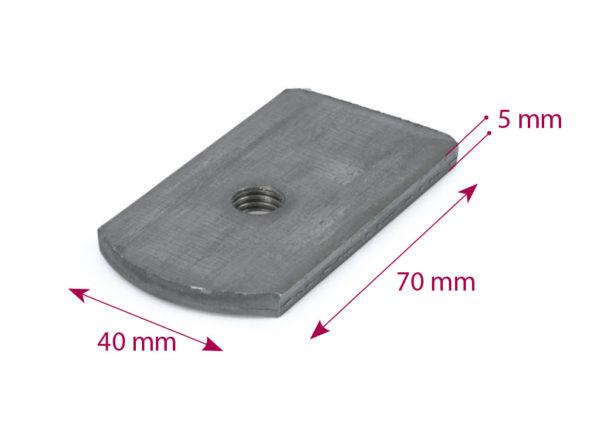 Placa somier 70×40 M-10